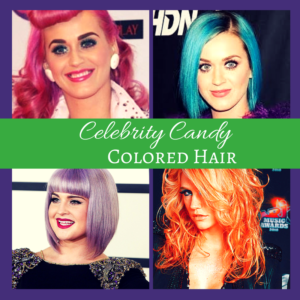 Celebrity candy colored hair