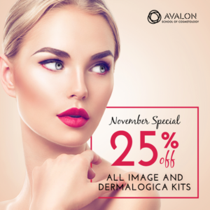 Receive 25 percent off all Dermalogica and Image kits