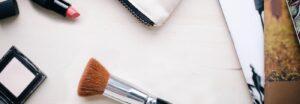 lipstick and makeup brush