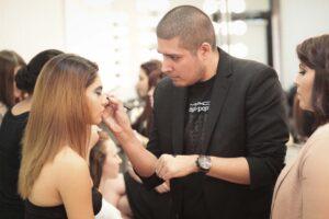 MAC Pro Makeup Instructor applying makeup