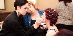 Makeup-artist applying makeup