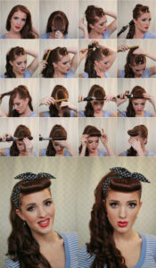 Ponytail with featured bangs tutorial