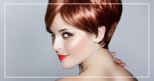 Female Model with Red Hair and Pixie Cut