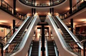 mall escalators