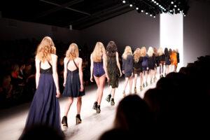 models on runway