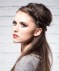 model with beautiful hair