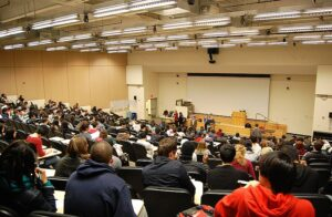 Students at an Avalon lecture hall