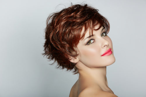 portfolio picture of a woman with short hairstyle