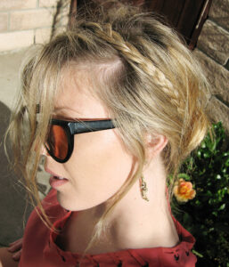 Spring time style; classy braid and sunnies