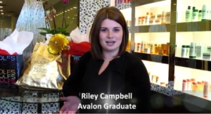 Avalon School of Cosmetology graduate Riley Campbell hired at ROLFS Salon