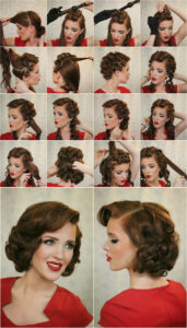 Pinned up curly hair tutorial