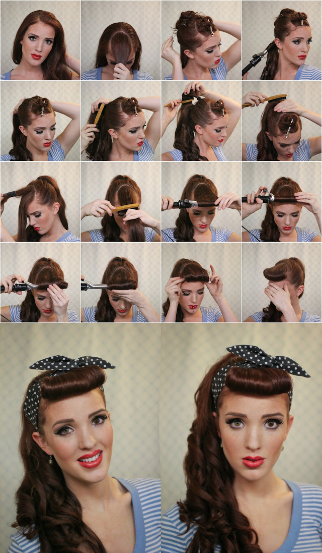 17 ways to make vintage hairstyles avalon school of cosmetology pinup hairstyle solutioingenieria Image collections