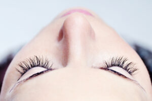 Girl with long lashes