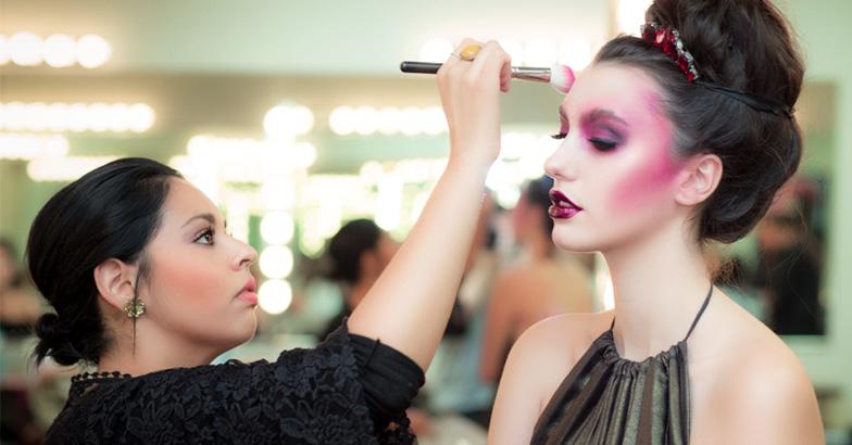 makeup artist in action