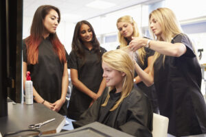 cosmetology instructor teaching
