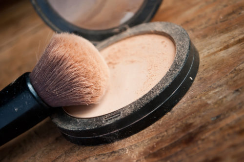 light powder foundation and brush