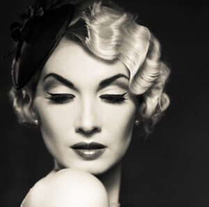 woman with finger waves