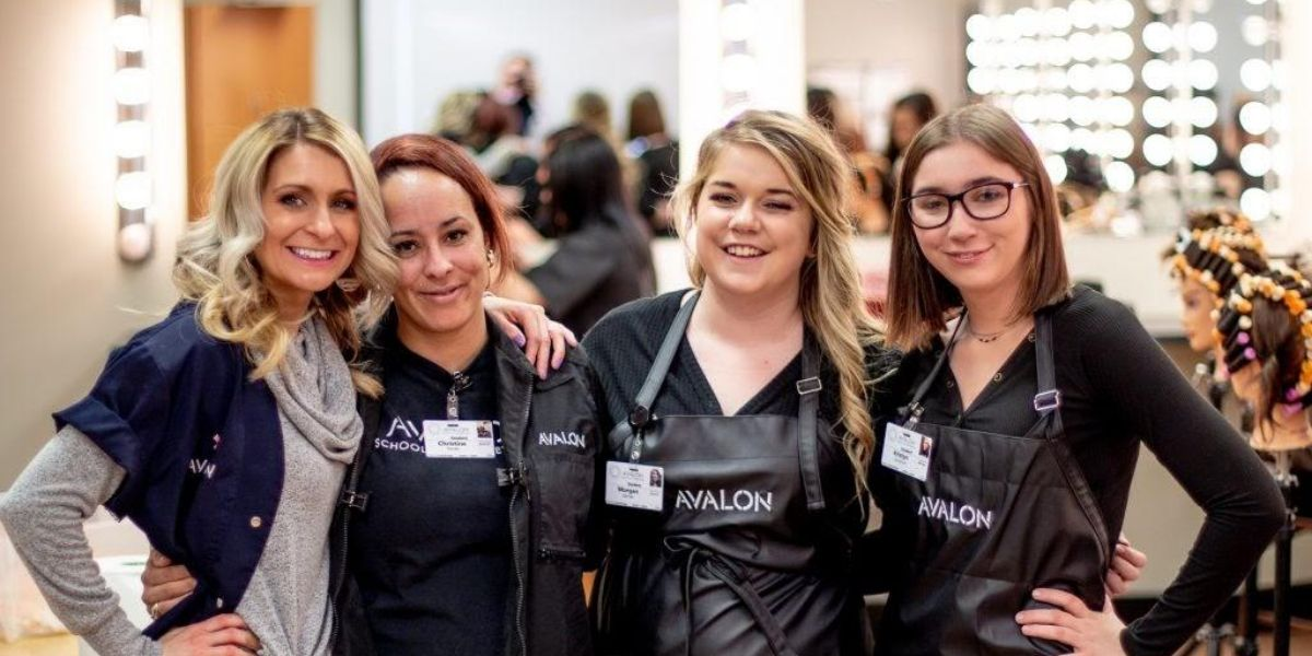 instructors and students at Avalon School of Cosmetology